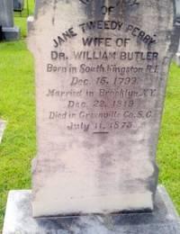 Headstone of Jane Tweedy Perry