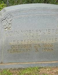 John Mobley Jeter III - Headstone