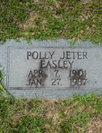 Mary Elizabeth (Polly) Jeter - Gravestone