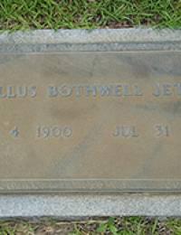 Camillus Bothwell Jeter Sr. - Gravestone