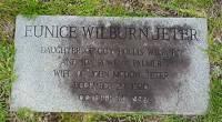 Cornelia Eunice Wilburn Jeter - Gravestone